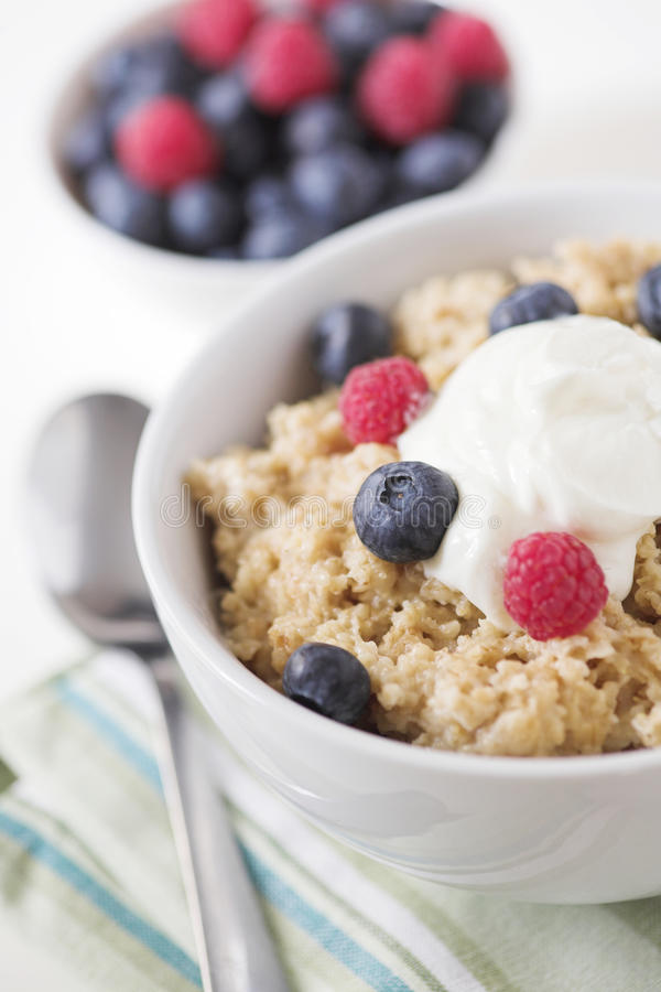 Porridge Oats & Fruit Royalty Free Stock Photo