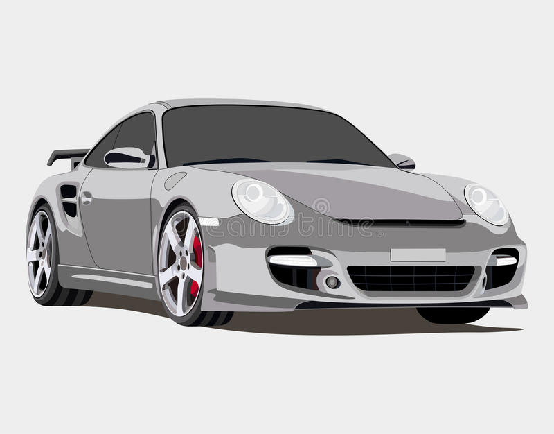 Porsche royaltyfri illustrationer