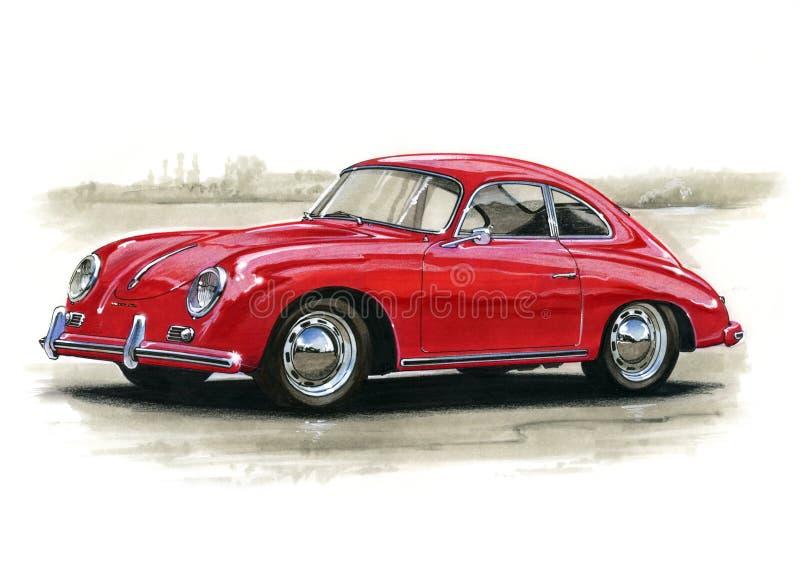 Porsche 356 illustrazione vettoriale