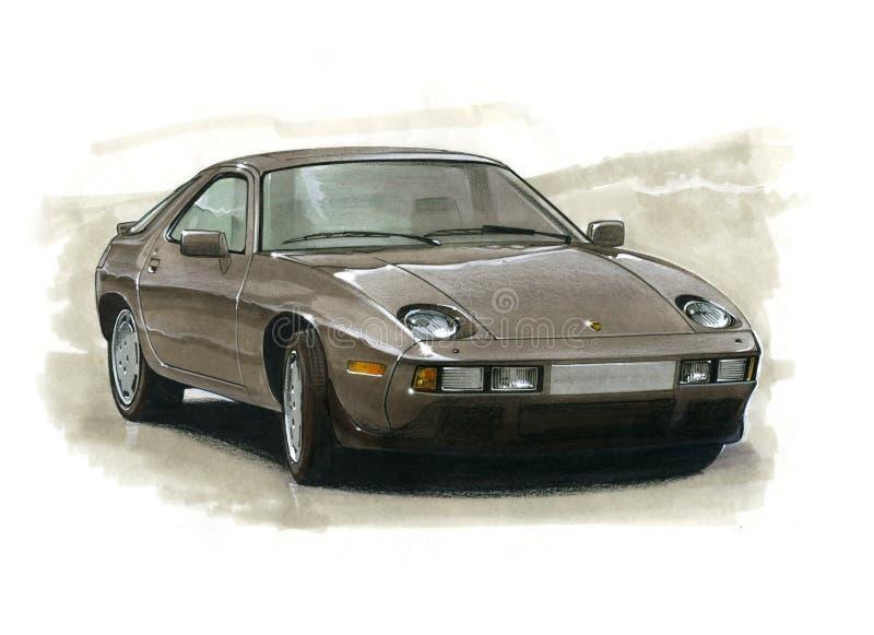 Porsche 928 vector illustratie