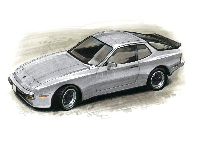Porsche 944 royalty-vrije illustratie