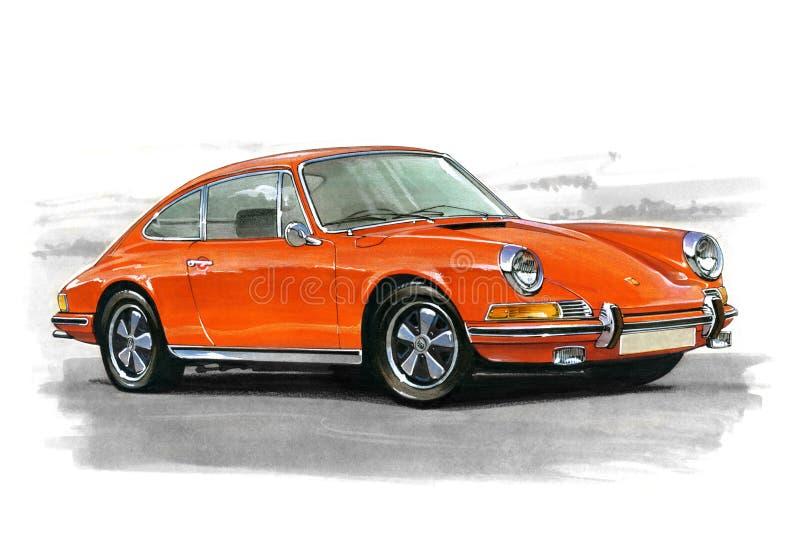 Porsche 911 διανυσματική απεικόνιση