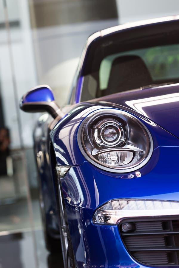 Porsche-auto's voor verkoop royalty-vrije stock foto