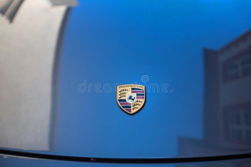 Porsche-autobonnet bensheim Duitsland stock afbeelding