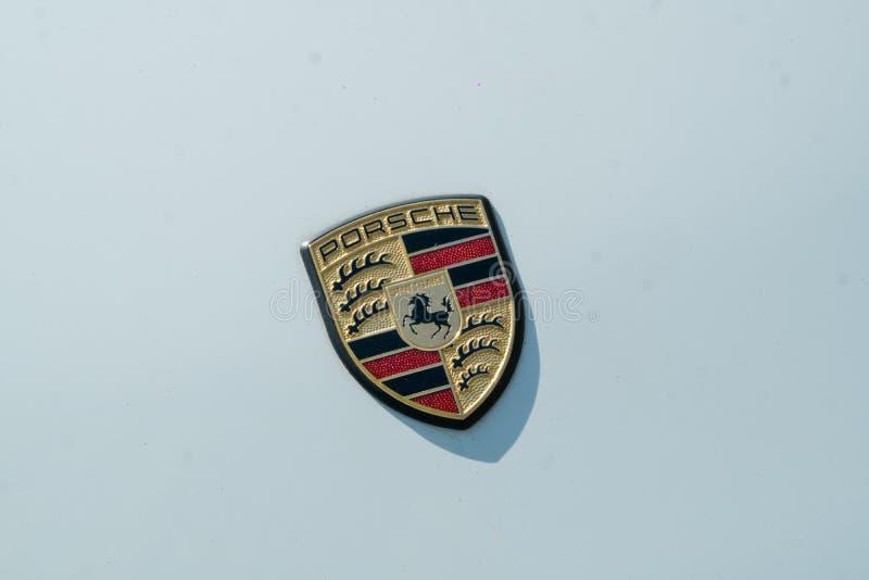 Porsche-Autoemblem stockbild