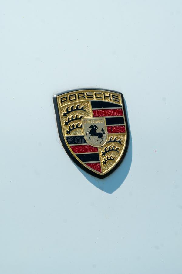 Porsche-Autoemblem stockfotos