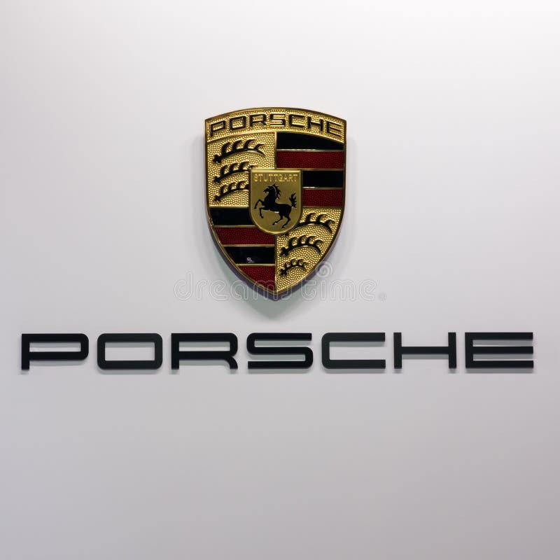 Porsche-Autologo lizenzfreies stockbild