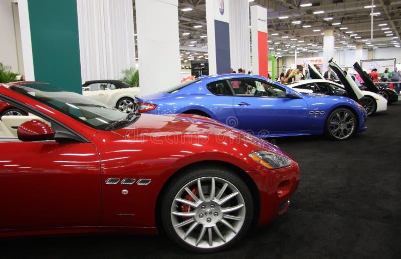 Porsche-Automobilausstellung stockfotografie
