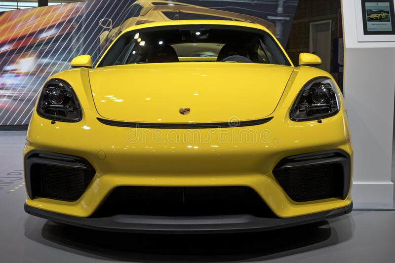Porsche 719 Boxster at the annual International Auto-show royalty free stock photos