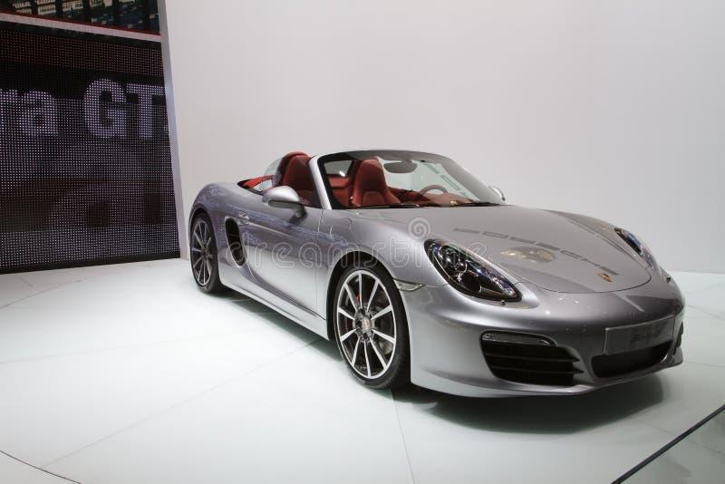 Porsche Boxster S - Genewa Silnika Przedstawienie 2012 obraz stock