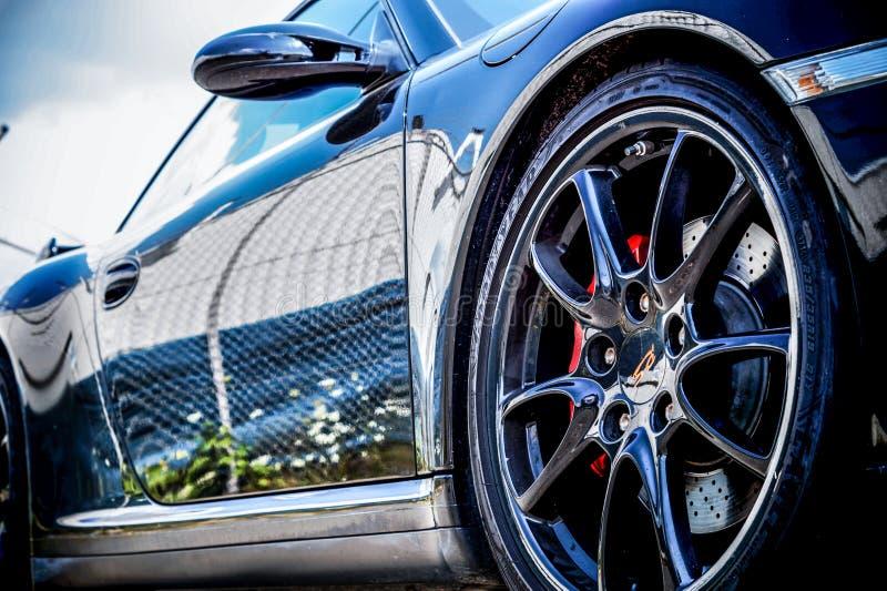 Porsche car. Car photography. Porsche Design stock photography