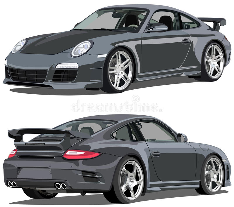 Porsche 911 carrera stock illustrationer