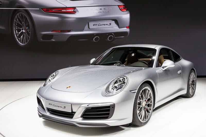 Porsche 911 Carrera S am IAA 2015 lizenzfreies stockfoto