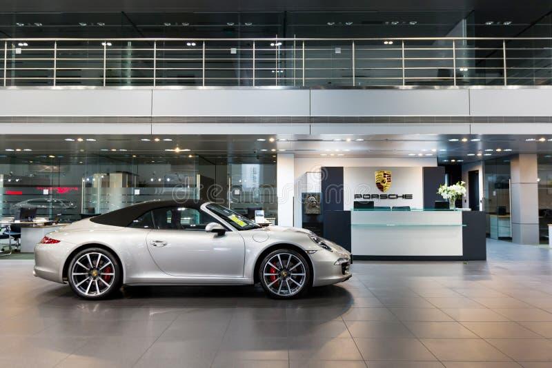 Porsche cars for sale in showroom