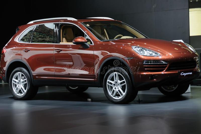 Download Porsche Cayenne SUV editorial stock image. Image of drive - 26815499