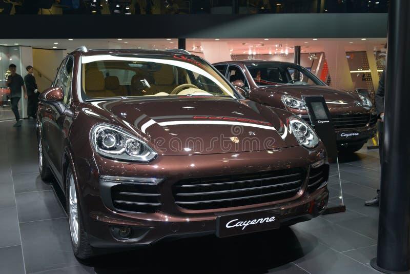 Porsche Cayennepfeffer SUV stockbild