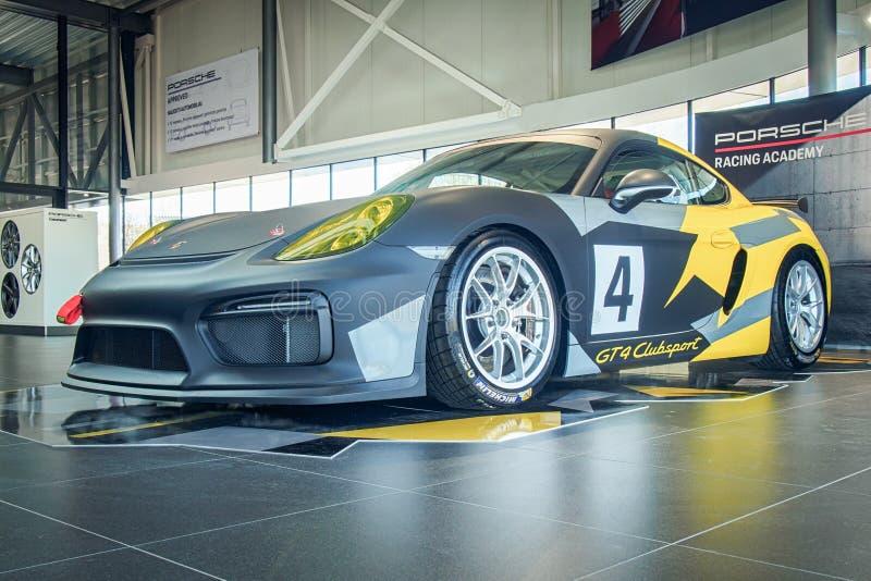 Porsche Cayman GT4 Clubsport arkivbilder