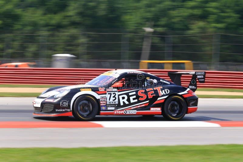 Porsche Cayman S samochód wyścigowy zdjęcia royalty free