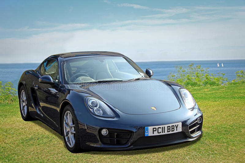 Porsche cayman sports car. Photo of a luxury porsche cayman sports car showing on the slopes of tankerton whitsable seafront during porsche rally on march 17th royalty free stock images