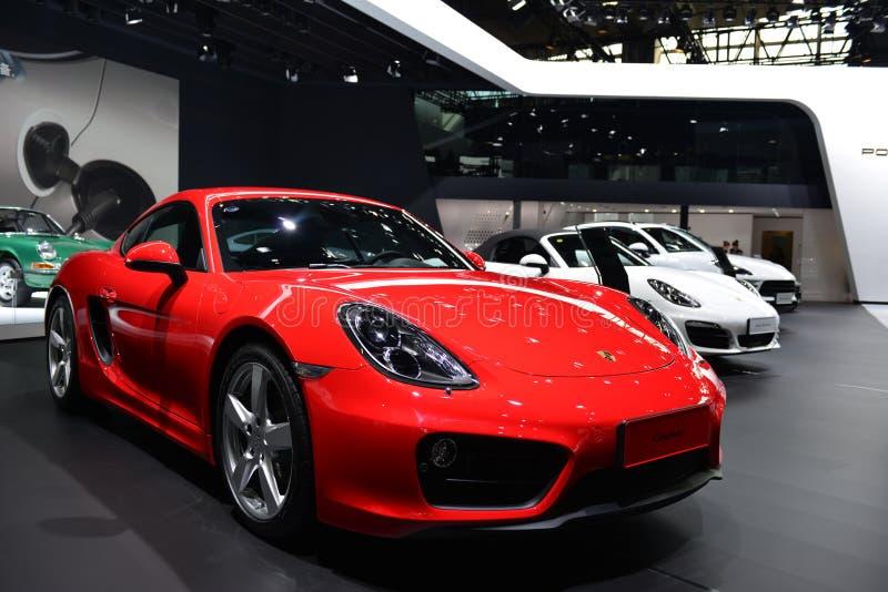 Porsche Cayman sportscar lizenzfreie stockbilder