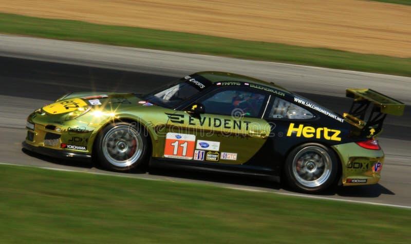 Porsche 911 che corre fotografie stock libere da diritti