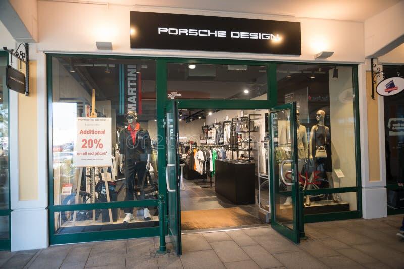 Porsche designlager i Parndorf, Österrike arkivbild