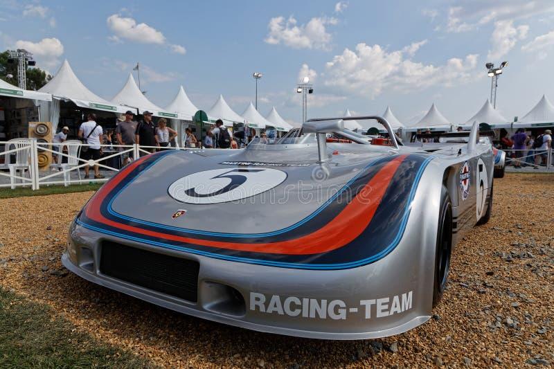 Porsche 908-3 em uma exposição que comemora 70 anos de Porsche imagem de stock royalty free