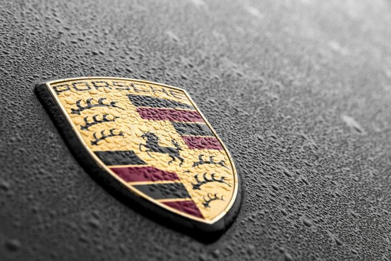Porsche-embleem stock afbeelding
