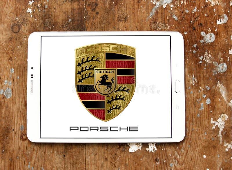 Porsche-embleem royalty-vrije stock foto