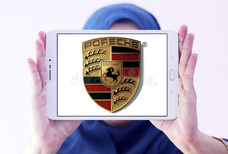 Porsche-embleem royalty-vrije stock afbeeldingen