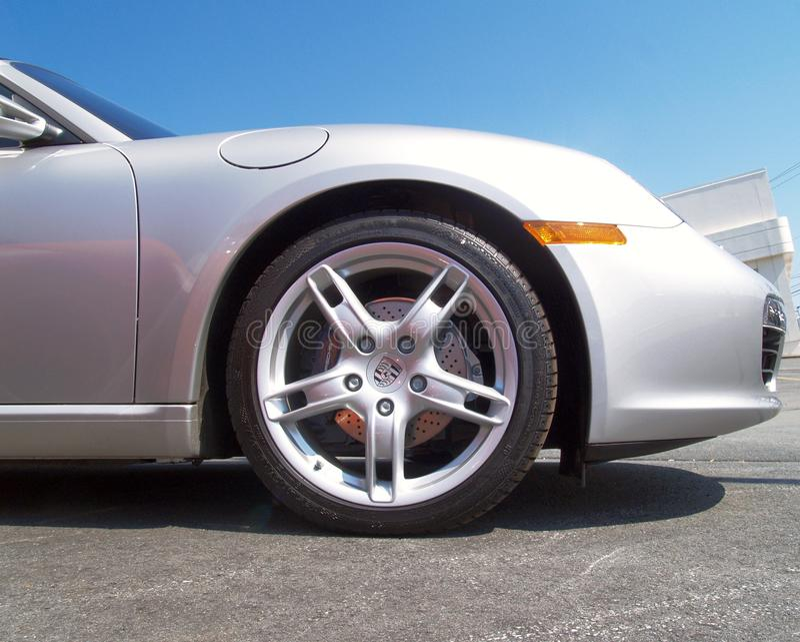Porsche-europäisches Luxuxsportauto lizenzfreie stockbilder
