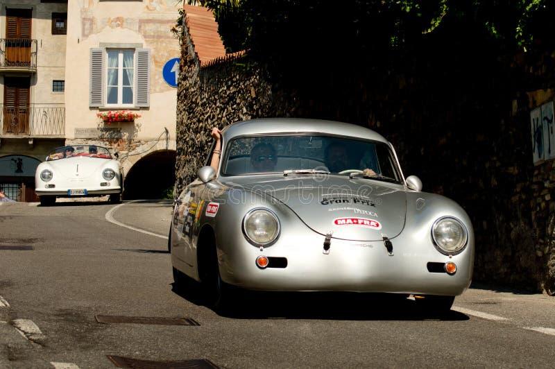 Porsche 356A Ferdinand in Bergamo historischer Grandprix 2017 stockbilder