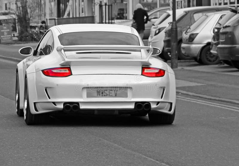Porsche gatabil royaltyfri fotografi