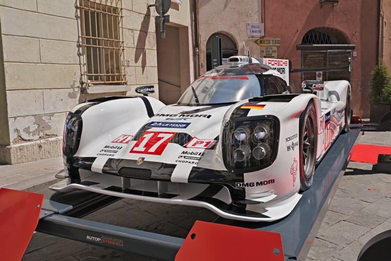 Porsche 919 hybrydu zwycięzca Światowy mistrzostwo 2015 (LMP1-H zdjęcie stock