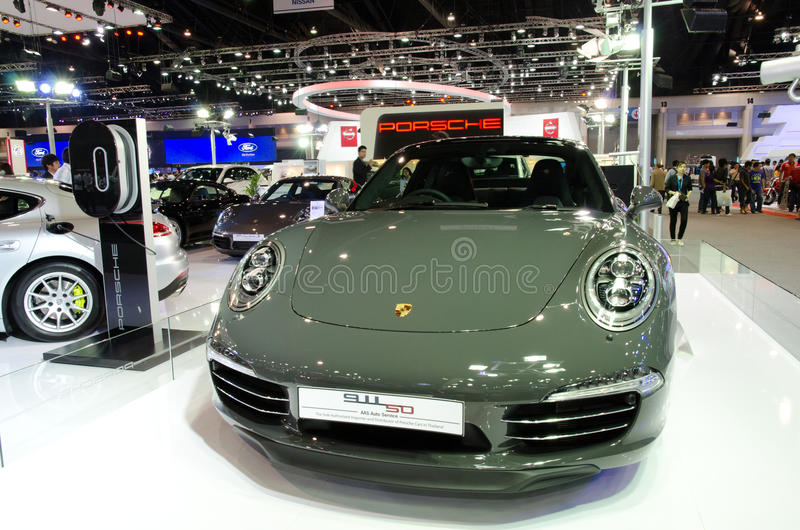 Porsche 91150 i expo för Thailand Internationalmotor royaltyfria bilder