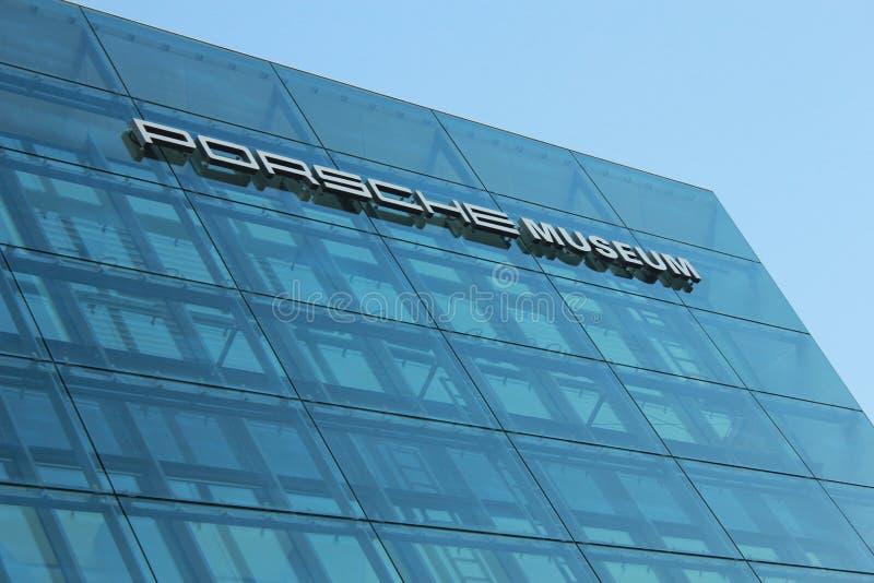 Porsche-Museum, Stuttgart, Duitsland royalty-vrije stock afbeelding