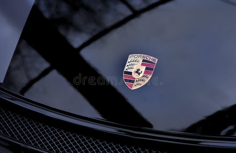 Porsche Panamera logo fotografia stock
