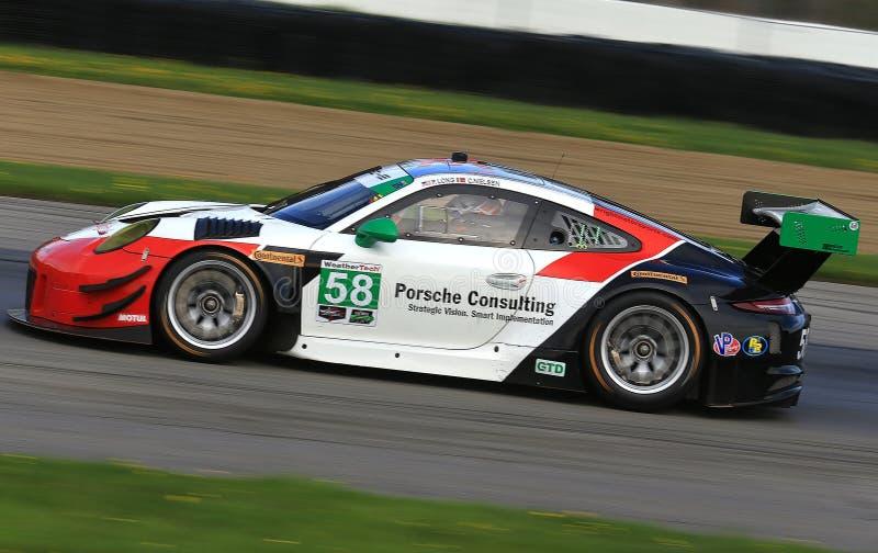 Porsche professionale 911 RSR Mototsports fotografia stock