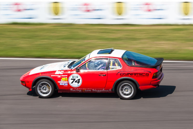 Porsche 924 racing car royalty free stock images