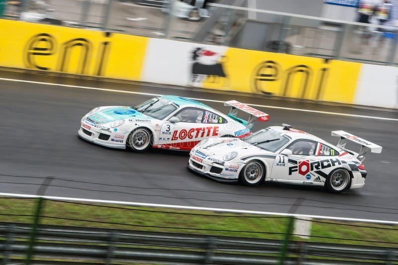 Porsche racing cars royalty free stock image