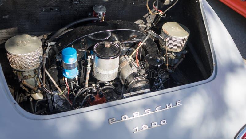Porsche 1600 silnik fotografia royalty free