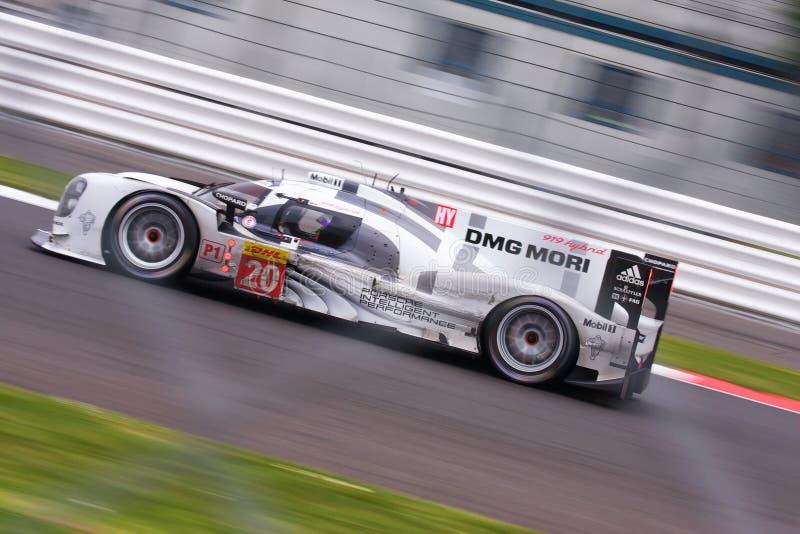 Porsche 919 in Silverstone stockfotografie