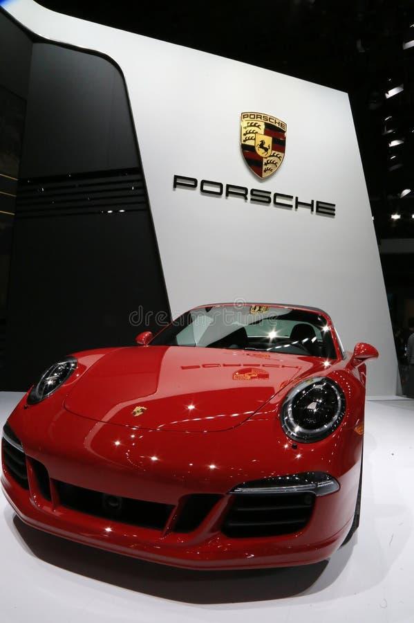 Porsche 911 som visas på showen royaltyfri fotografi