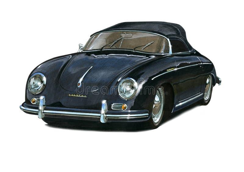Porsche Speedster royalty illustrazione gratis