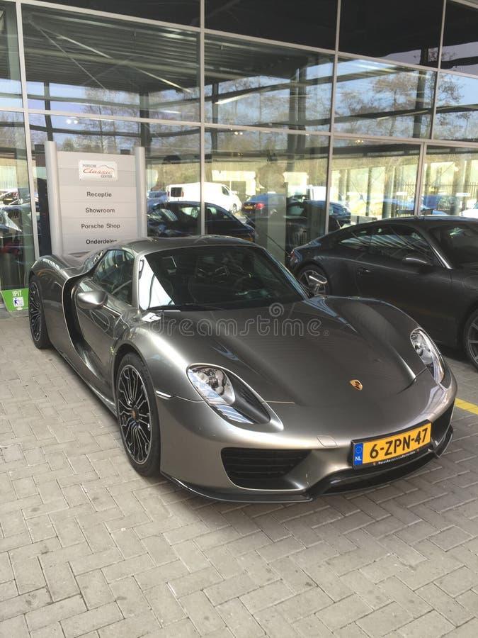 Porsche 918 spider royalty free stock photography