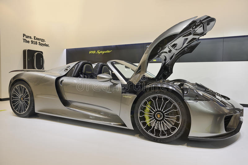 Porsche 918 Spyder stockfotos