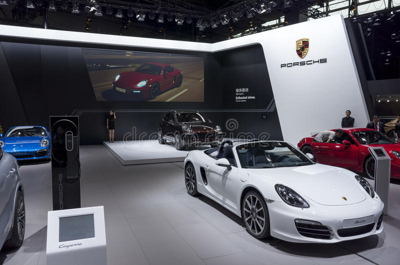 Porsche-Stand lizenzfreie stockbilder