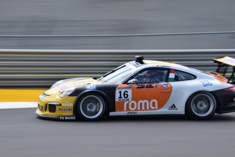 Porsche Supercup brittisk grand prix 2015 royaltyfri bild