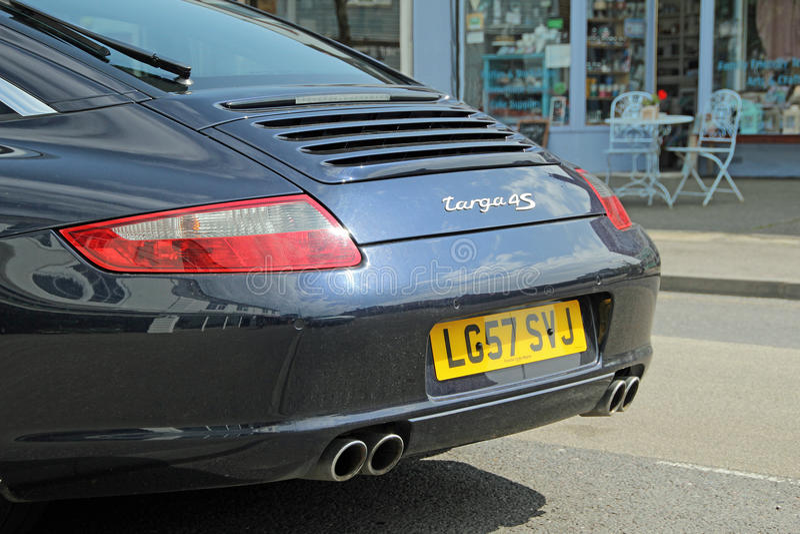 Porsche-targa 4s sportscar lizenzfreies stockbild