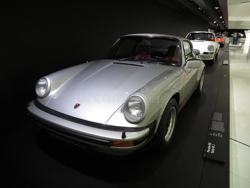 Porsche 911 Turbo Nr. 1. Germany. Stuttgart. 2014-04-24. Place: Porsche Museum in Porscheplatz 1. View of Porsche 911 Turbo Nr. 1 in Porsche museum exposition royalty free stock images
